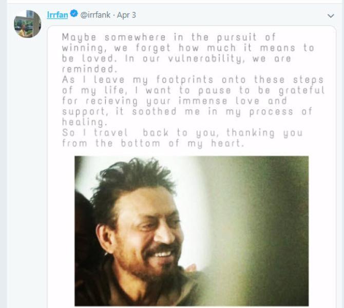 Irrfan Khan's comeback note