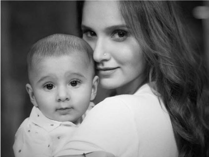 Sania Mirza and Izhaan