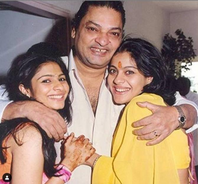 Kajol and her father