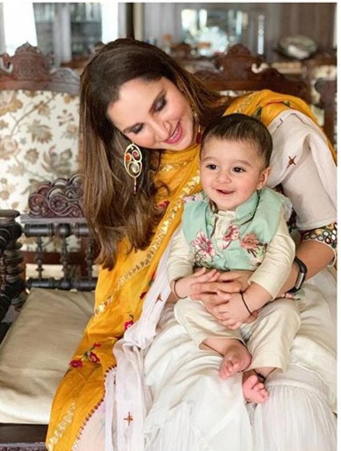 Sania Mirza and Izhaan Mirza Malik Eid picture