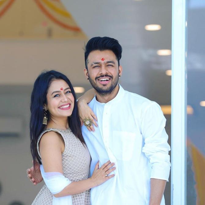 Neha Kakkar and Tony Kakkar