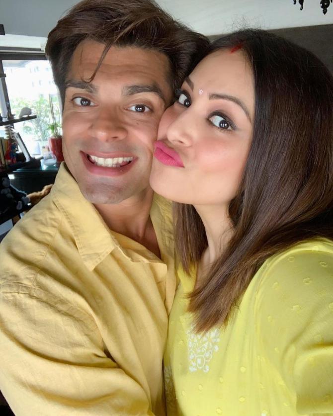 Bipasha Basu Singh Grover and Karan Singh Grover