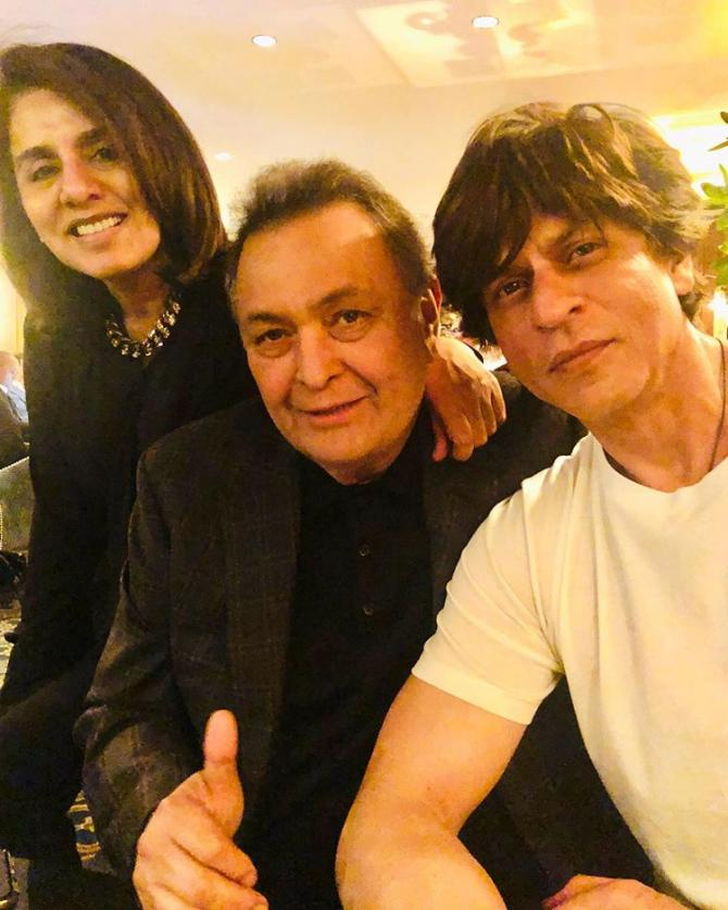 Rishi Kapoor, Neetu Kapoor and Shah Rukh Khan