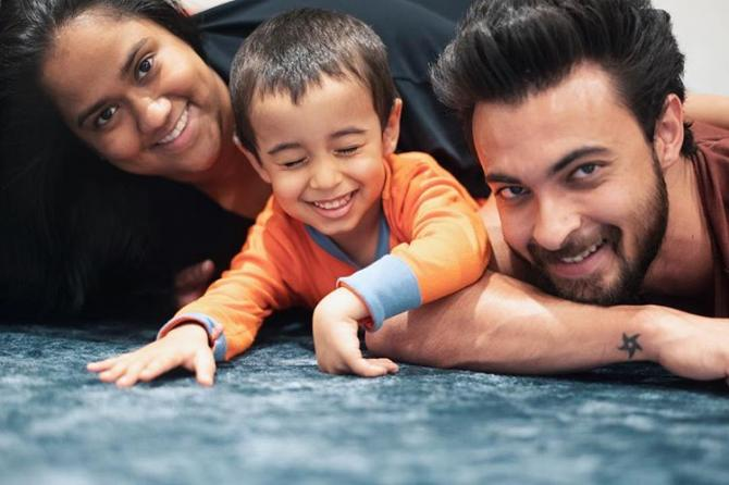 Arpita Khan Sharma, Aayush Sharma and Ahil Sharma