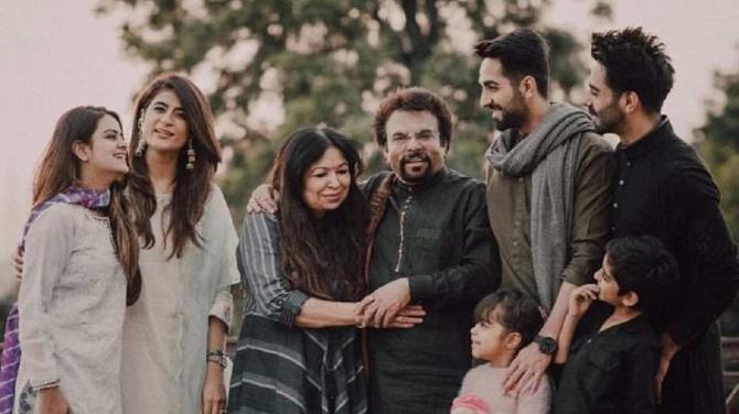 Ayushmann Khurrana with family