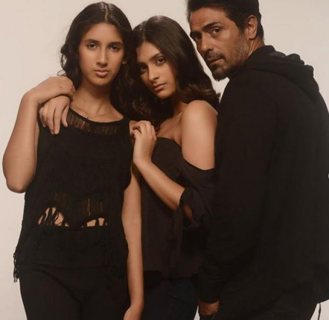 Arjun with two daughters