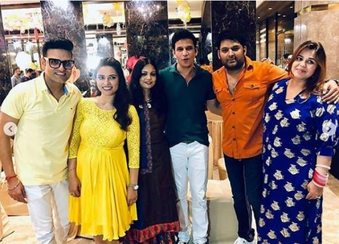 Kapil and Ginni look amazing at their friends baby shower