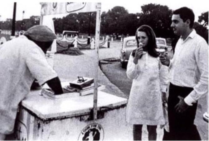 Rajiv Gandhi and Sonia Gandhi