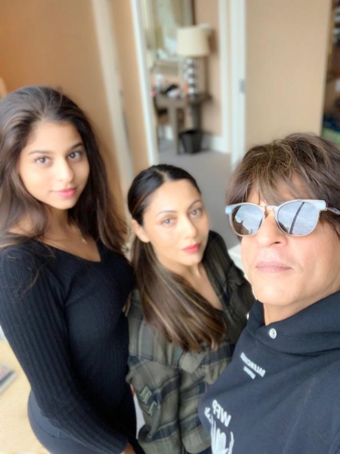 Shah Rukh Khan, Gauri Khan and Suhana Khan