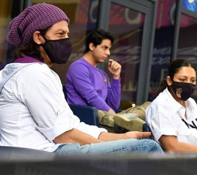 Shah Rukh Khan, Gauri Khan and Aryan Khan