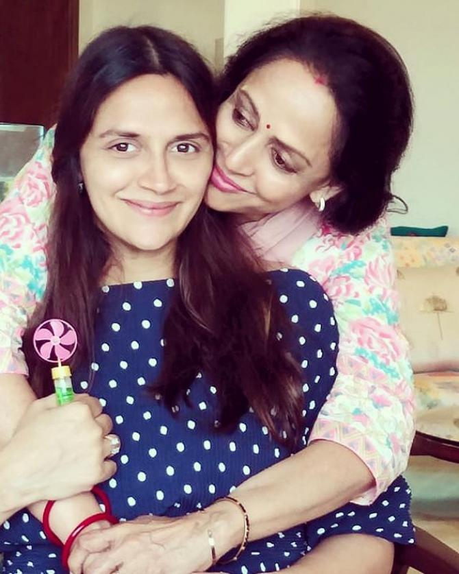 Ahana Deol Vohra and Hema Malini