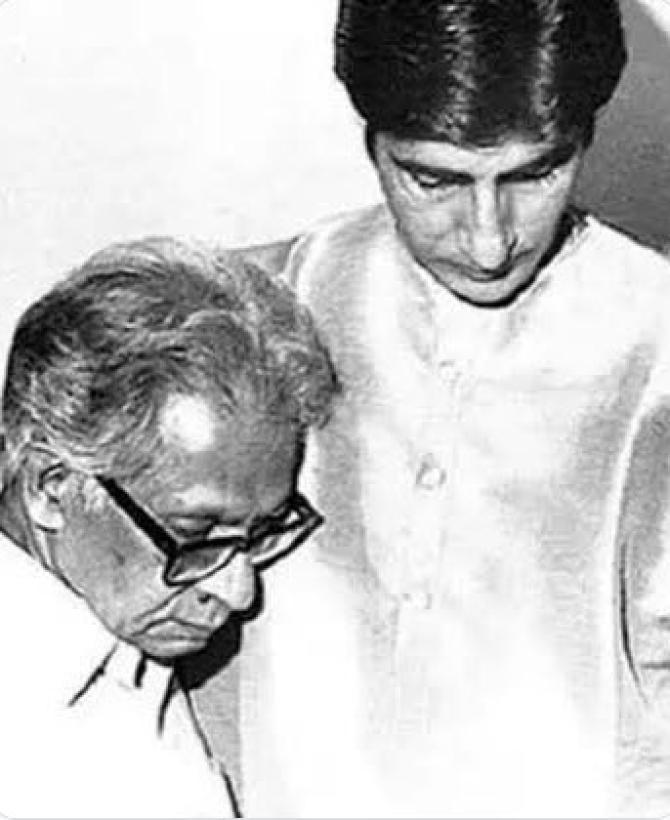 amitabh bachchan and harivansh rai bachchan