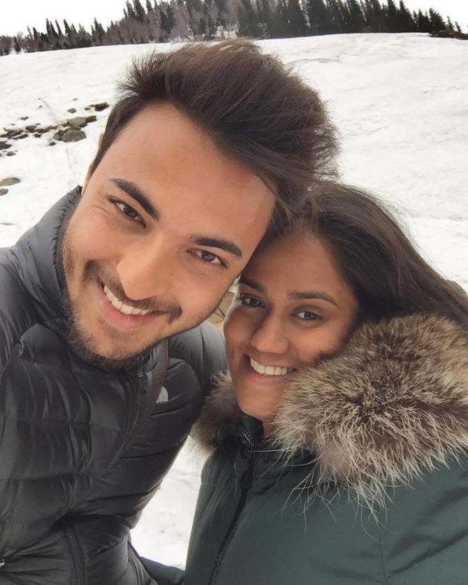 Arpita Khan Sharma and Aayush Sharma