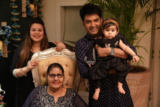 Kapil Sharma, Ginni Chatrath and Anayra Sharma