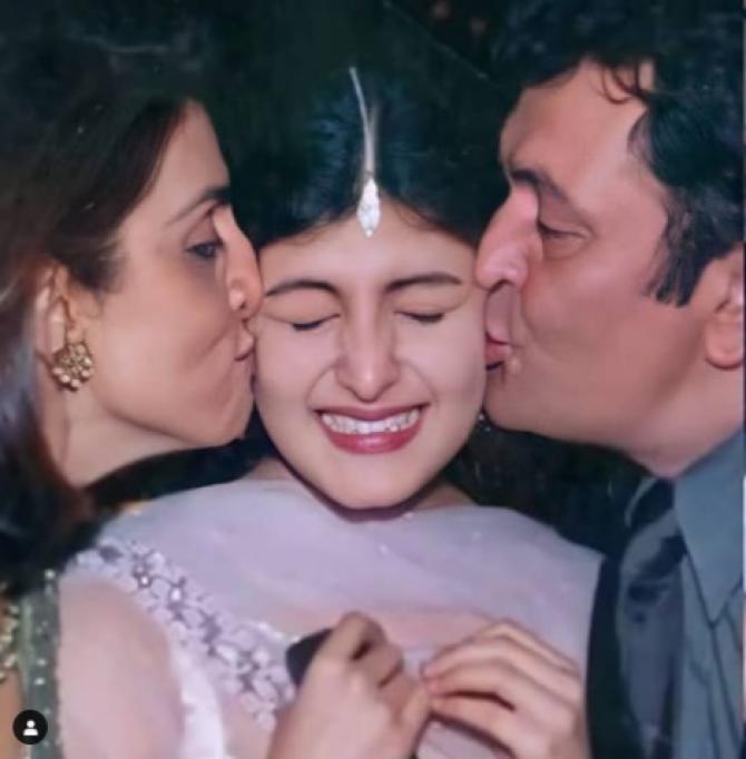 Riddhima Kapoor Sahni Parents