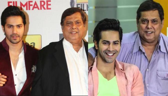 Varun Dhawan with David Dhawan