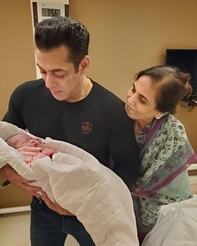 Salman Khan, Salma Khan and Ayat Sharma