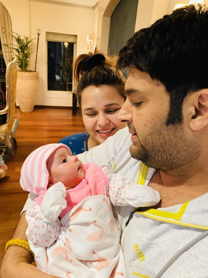 Kapil Sharma, Ginni Chatrath and Anayra Sharma