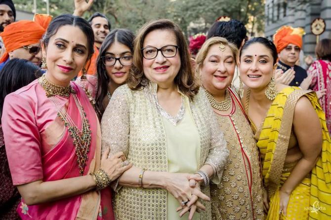 Rima Jain, Babita, Kareena Kapoor Khan and Karisma Kapoor