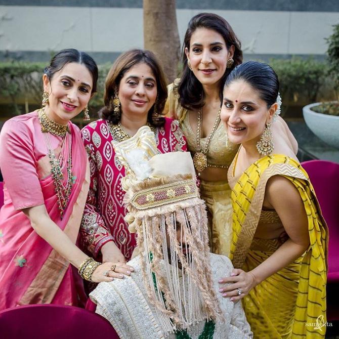 Armaan Jain, Kareena Kapoor Khan and Karisma Kapoor