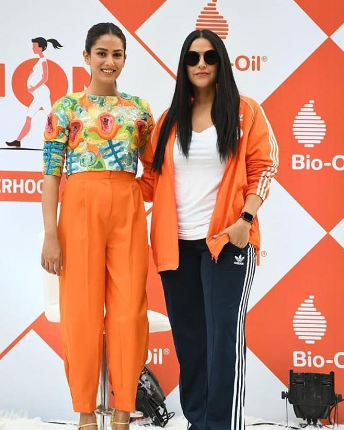 Mira Rajput Kapoor and Neha Dhupia
