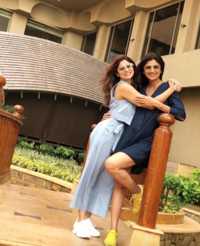 Shilpa Shetty Kundra and Shamita Shetty