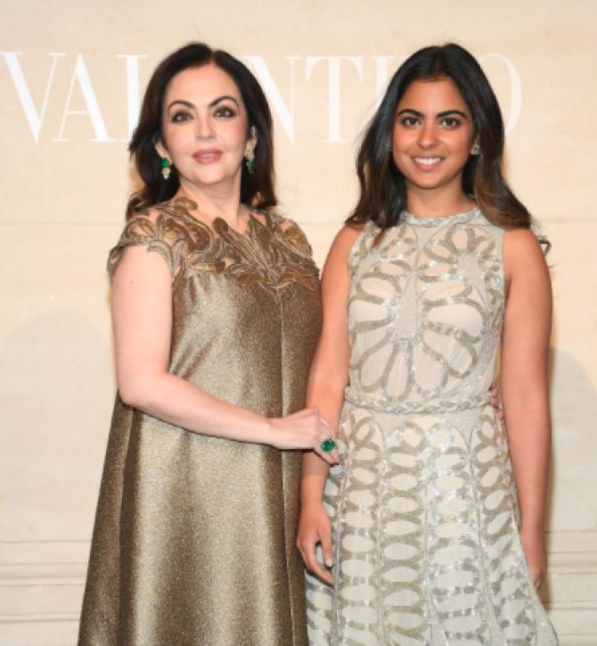 Nita Ambani and Isha Ambani Piramal