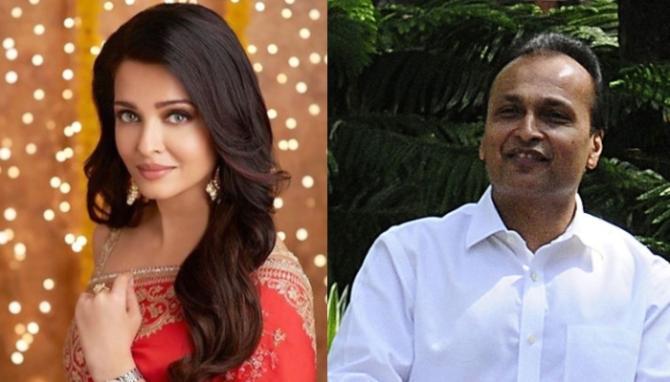 Aishwarya Rai and Anil Ambani