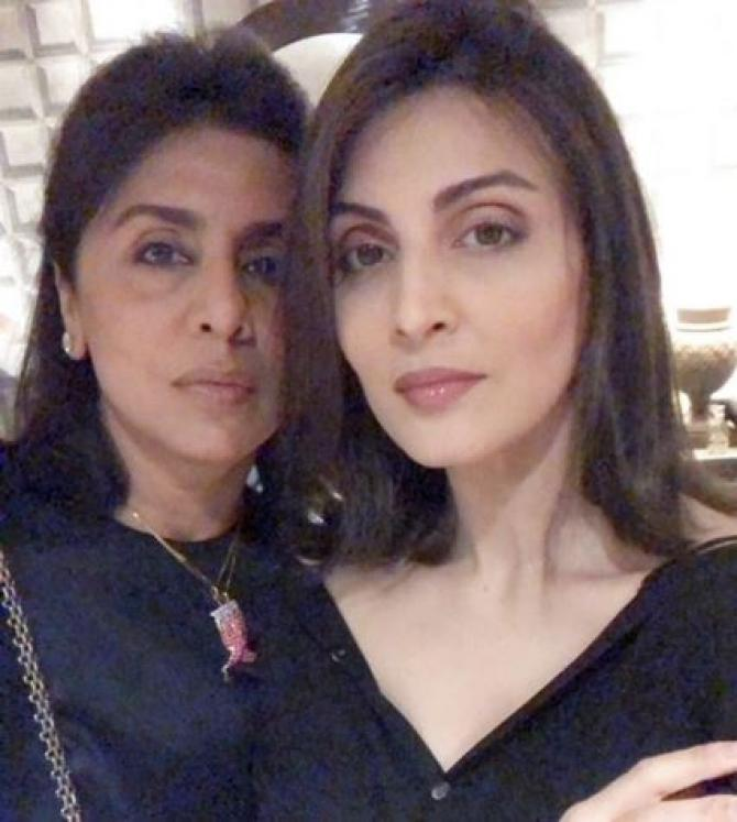 Neetu Kapoor and Riddhima Kapoor