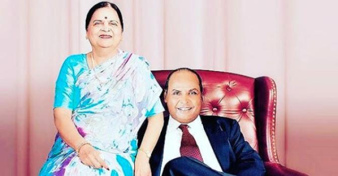 Dhirubhai Ambani and Kokilaben Ambani