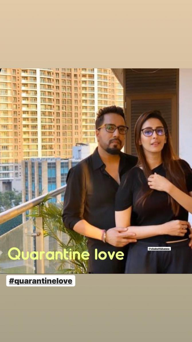 Mika Singh and Chahatt Khanna