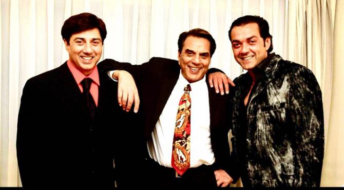 Dharmendra, Sunny Deol and Bobby Deol