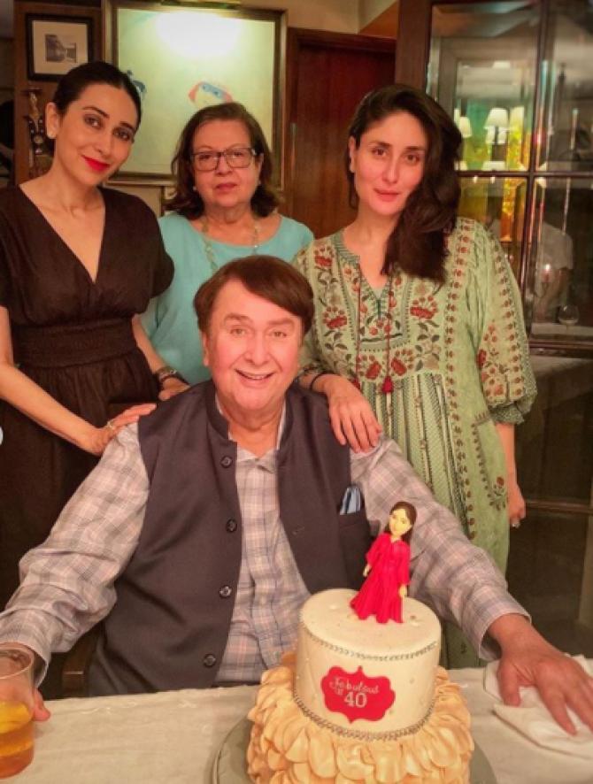 Kareena Kapoor Khan, Karisma Kapoor, Randhir Kapoor and Babita