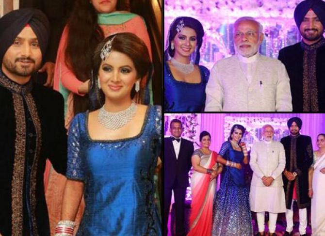 Harbhajan Singh and Geeta Basra's Reception