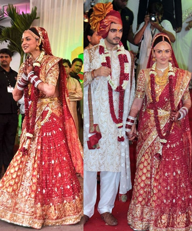 Esha Deol wedding lehngas