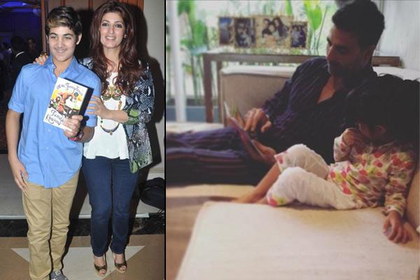Twinkle Khanna Kids Bollywood Celeb...