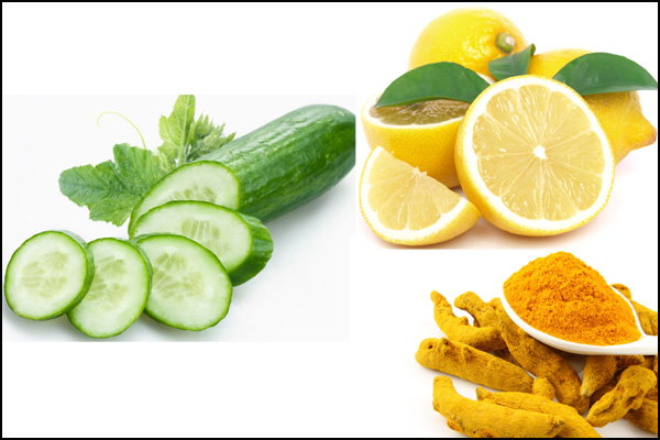 cucumber, lime and turmeric