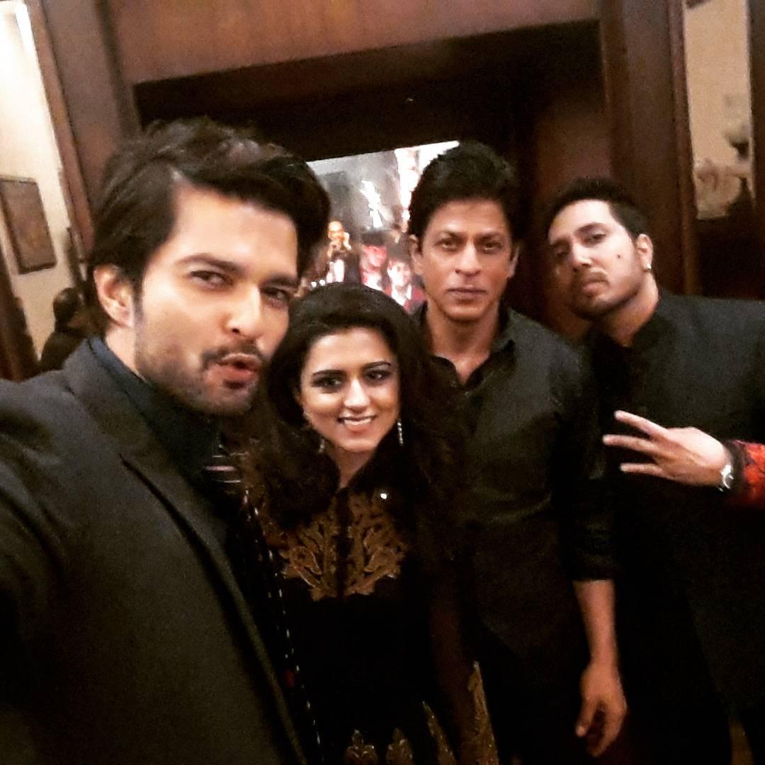 Ridhi Dogra, Raqesh Bapat, Shah Rukh Khan, Mika at Arun Jaitley's daughter's wedding
