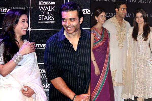 Rani Mukerjee and Uday Chopra, Bachchan family