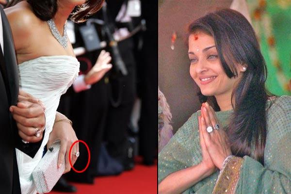 bollywood actresses Aishwarya Rai engagement ring
