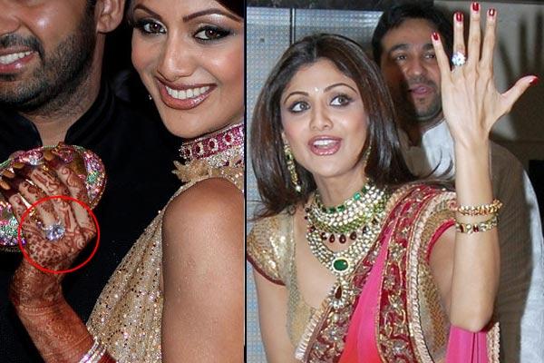 bollywood actresses Shilpa Shetty engagement ring