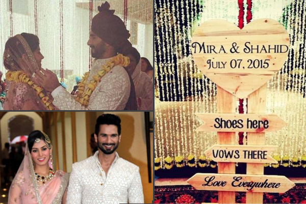 The Shahid And Mira Wedding