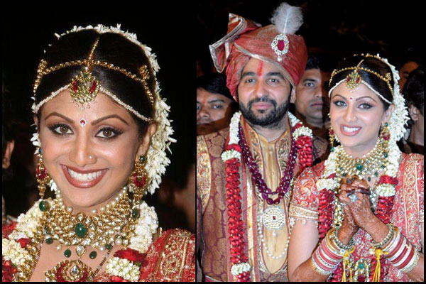 shilpa shetty wedding day maang tikka- bollywoodshaadis