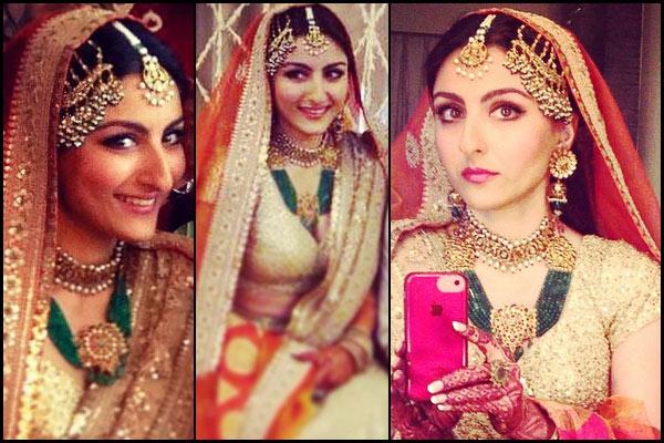 soha ali khan wedding day maang tikka- bollywoodshaadis
