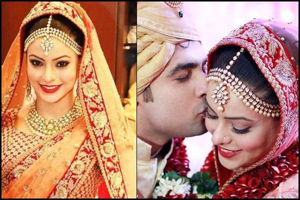 aamna sharif wedding day maang tikka- bollywoodshaadis