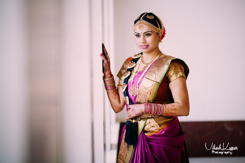 ethnic tamil wedding look details- BollwyoodShaadis