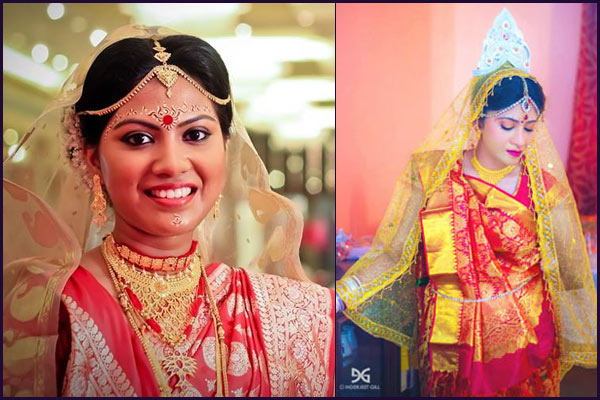 ethnic bengali wedding bridal look details- BollwyoodShaadis
