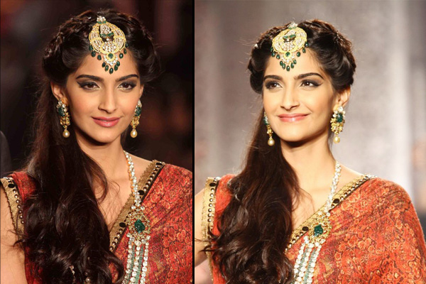 tips to choose correct wedding hairstyles for all brides sonam kapoor