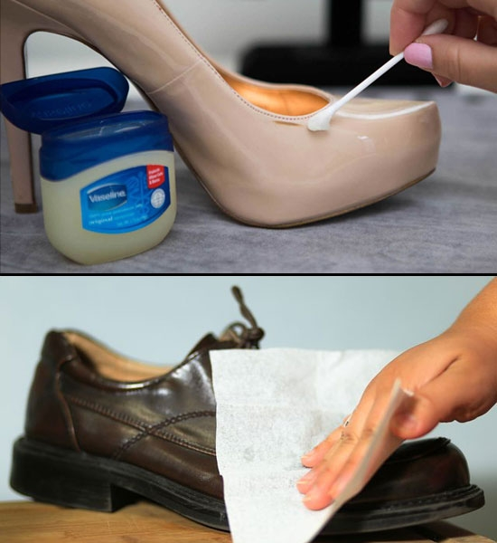 #8. Cleans leather shoes