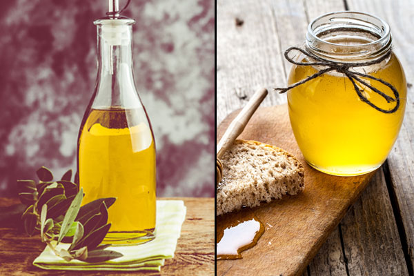 olive oil and honey for hair fall